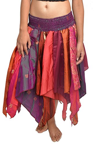 Wevez Women's Tribal Leaves Style Skirt Pack of 3, One Size, Assorted