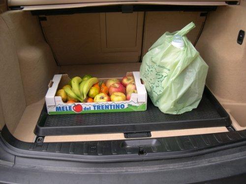 Praktische Mehrzweckablage und Kofferraumwanne mit erhöhtem Rand, Wabenstruktur und rutschfestem Unterboden! Maße: 52 x 92 x 4 cm - 2