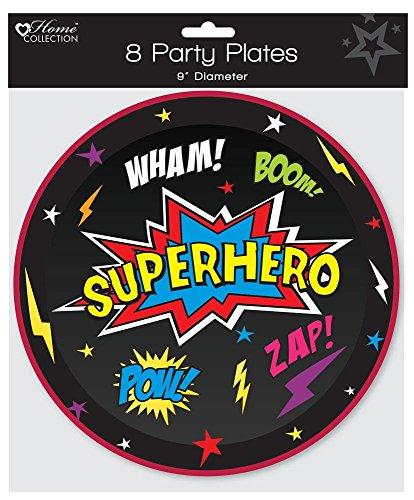 8Stück Kinder Geburtstag Party 22,9cm Pappteller–Jungen Superheld