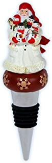 Pipka Snowman Santa Wine Stopper