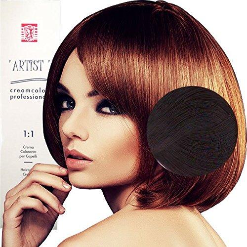 Coloration Professionnelle Pour Cheveux Acajou Cuivré Rouges Acajou avec Ammoniaque 6/46 Permanente 100ml Made in Italy