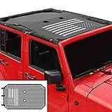 American Flag Sunshade Mesh Bikini Top Sun Shade UV Protection for 2007-2018 Jeep Wrangler JK Unlimited 4 Door
