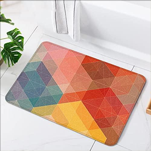 OPLJ Alfombrilla de Puerta de Entrada de decoración del hogar con patrón geométrico, Alfombrilla Absorbente para baño, Alfombrilla...