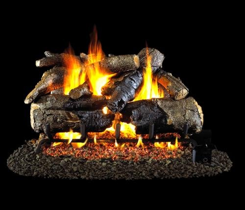Best Buy! R.H. Peterson CHAOG4-2-24 - 24 Charred American Oak Vented Gas Logs with Burner for Nat...