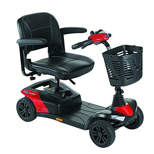 Invacare Scooter eléctrico, Mod.Colibri, Compacto y Desmontable, Color Rojo, Batería: 18 ah