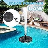噴水ポンプ ソーラーポンプ 1.4W 太陽光充電 200L / H 省エネ 自動操作 ブラシレス 水サイクル 屋外 池 プール 水槽 装飾 ソーラー水中ポンプ フローティング 噴水 養魚池 水族館