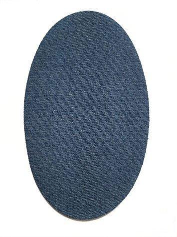 Haberdashery Online 6 Rodilleras TERMOADHESIVAS Tejano Medio Color 21. Rodilleras para Proteger Pantalones