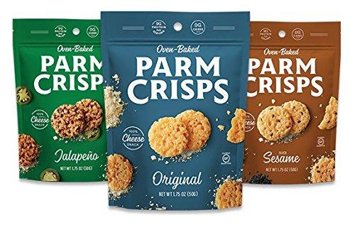 Parm crisps, Original, Jalapeno, Sesame, 3x1.75oz