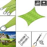 GMRZ Imperméable Rectangulaire Voile D'ombrage, Protection UV Toile D'ombrage, pour Terrasse Camping ExtéRieur Jardin, avec quincaillerie Fixe,4x5m/13'x16'