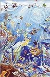 Poster 60 x 90 cm: Wimmelbild: Unterwasserwelt von Bernd