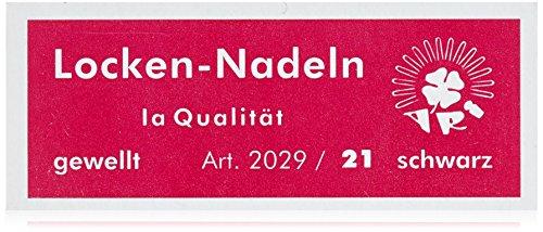 Ari Lockennadeln 21 gewellt schwarz, 45 mm, 2er Pack, (2x 45 Stück)