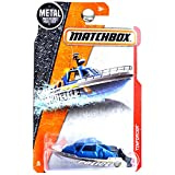 Matchbox 2017 Heroic Rescue Tinforcer Police Speed Boat Blue