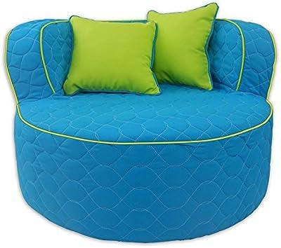 Fun Furnishings Throw Back Chair, Aqua