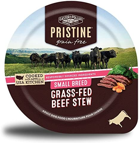Castor Pollux Pristine Grain Free Small Breed Grass Fed Beef Stew Canned Dog Food 12 3 5oz cans product image