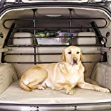 Guardian Gear Vehicle Pet Barrier, Strong, Sturdy, Pressure-Mounted, and Heavy-Duty Adjustable Steel Rubber - Black