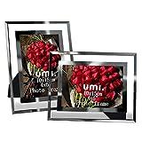 UMI. Essentials Marco de Fotos de Cristal 10 x 15 cm, Set de 2