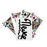 Never Funny Cita Handwrite Poker Juego de mesa de mesa
