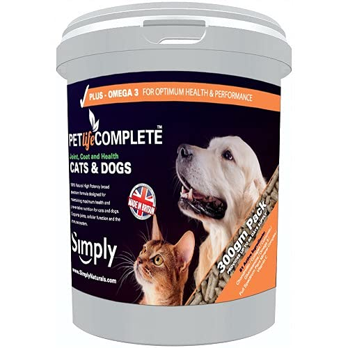 Pet Life Complete Minerals & Vitamins Natural Pure Plant Derived- Health, Joint and Coat Care for Dogs & Cats