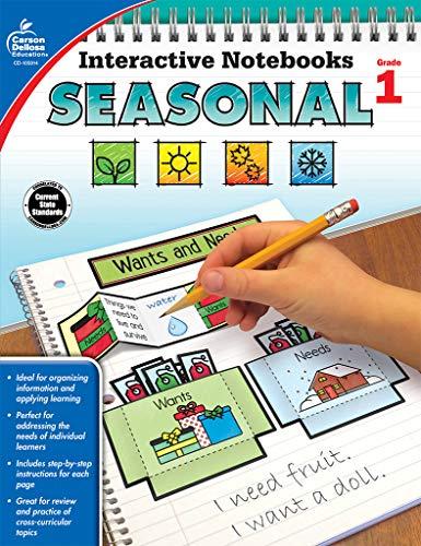 Interactive Notebooks Seasonal, Grade 1