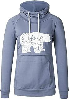 Women's Nursing Hoodie Sweatshirt Long Sleeves Maternity Tops Casual Breastfeeding Clothes