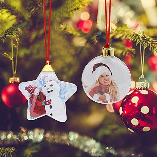 knowledgi Bola de árbol de Navidad: bola transparente para el árbol de Navidad, regalo