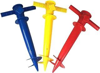 CLISPEED 2St Strand Paraply Sandankar Spike Umbrella Hållare Stående Paraply Hållare För Fiske Sun Beach Garden Patio )