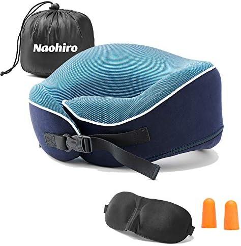 Naohiro Travel Pillow 100 Pure Memory Foam Pillow Super Soft Comfortable Pillow Comfortable product image