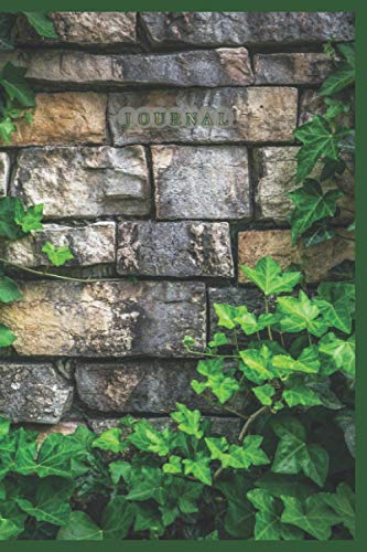 Journal (Green Vines on Brick Wall) (6' x 9' Notebook)