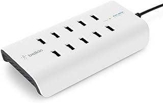 Belkin Rockstar 10 Port USB A Ladegerät (10 x 2,4A schnelles Aufladen) weiß