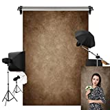 Kate 5x7ft/1.5m(W) x2.2m(H) Abstract Brown Photography Backgrounds Microfiber Brown Portrait Photography Studio Backdrops