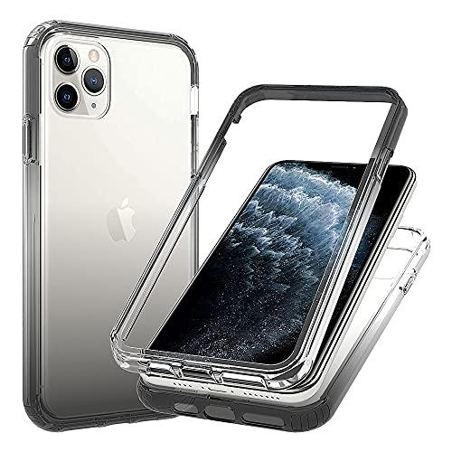 Blllue Funda para iPhone 11 Pro Max, Slim Fit transparente a prueba de caídas con policarbonato duro fino y marco de TPU flexible para iPhone 11 Pro Max, color negro