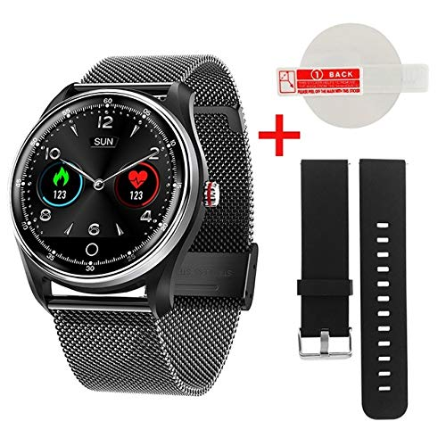 Mx9 ECG Smart Watch Blutdruck PPG Herzfrequenz Blutdruckmonitor mehrsprachige Smartwatch Uhr für Männer Frauen China Black Steel