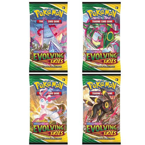 Pokemon Cartas Espada Y Escudo – Evolving Skies Booster Packs x4 - Inglés Cartas Originales - Cartas Originales