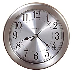 Howard Miller Pisces Wall Clock 625-313 – 8.5-Inch Round Brushed Nickel-Finished Case, Modern Home Decor, Quartz Movement Timepiece, 3-Point Secure Screw Mount System
