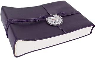 LEATHERKIND Capri Leather Photo Album, Small Aubergine - Handmade in Italy