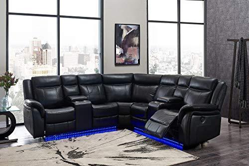 Global Furniture USA Black Sofa Sectional