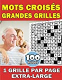 Mots Croisés Grandes Grilles: 1 Grille Par Page Extra-Large |...