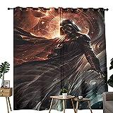 Cortina impermeable para cuarto de baño, diseño de Star Wars Darth Vader, para decoración de dormitorio y sala de estar, 132 x 160 cm