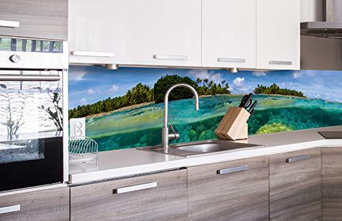 DIMEX LINE Küchenrückwand Folie selbstklebend KORALLENRIFF   Klebefolie - Dekofolie - Spritzschutz für Küche   Premium QUALITÄT - Made in EU   260 cm x 60 cm