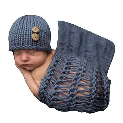 Highdas Estilo lindo de la para bebé fotografía del recién nacido hecho a mano de ganchillo ropa de bebé