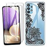 SCDMY Carcasa para Samsung Galaxy A32 5G Funda + [2 Piezas] Cristal Templado, Transparente Silicona...