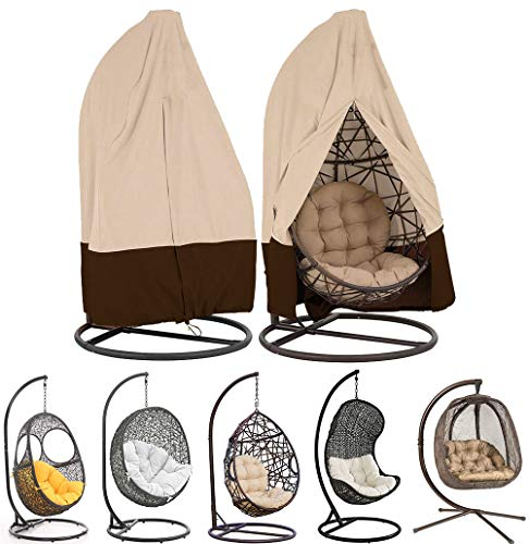 Cubierta de Silla Colgante para Patio Jardín Exterior, Protector Cubierta Para Sillón Colgante Silla De…