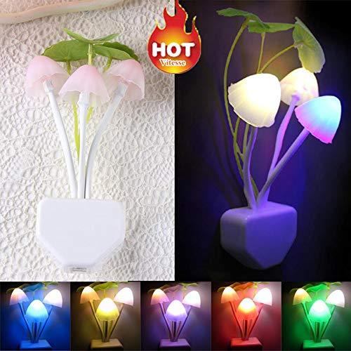 Lichterkette Weihnachten Glühbirnen Lichterkette Außen Wasserdichte String Licht Clip Romantische Bunte Sensor Led Pilz Nachtlicht (Multi-color)