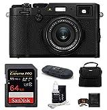Fujifilm X100F Digital Camera (Black) Bundle Includes: 64GB Extreme PRO SDXC Memory Card + Camera Bag + More