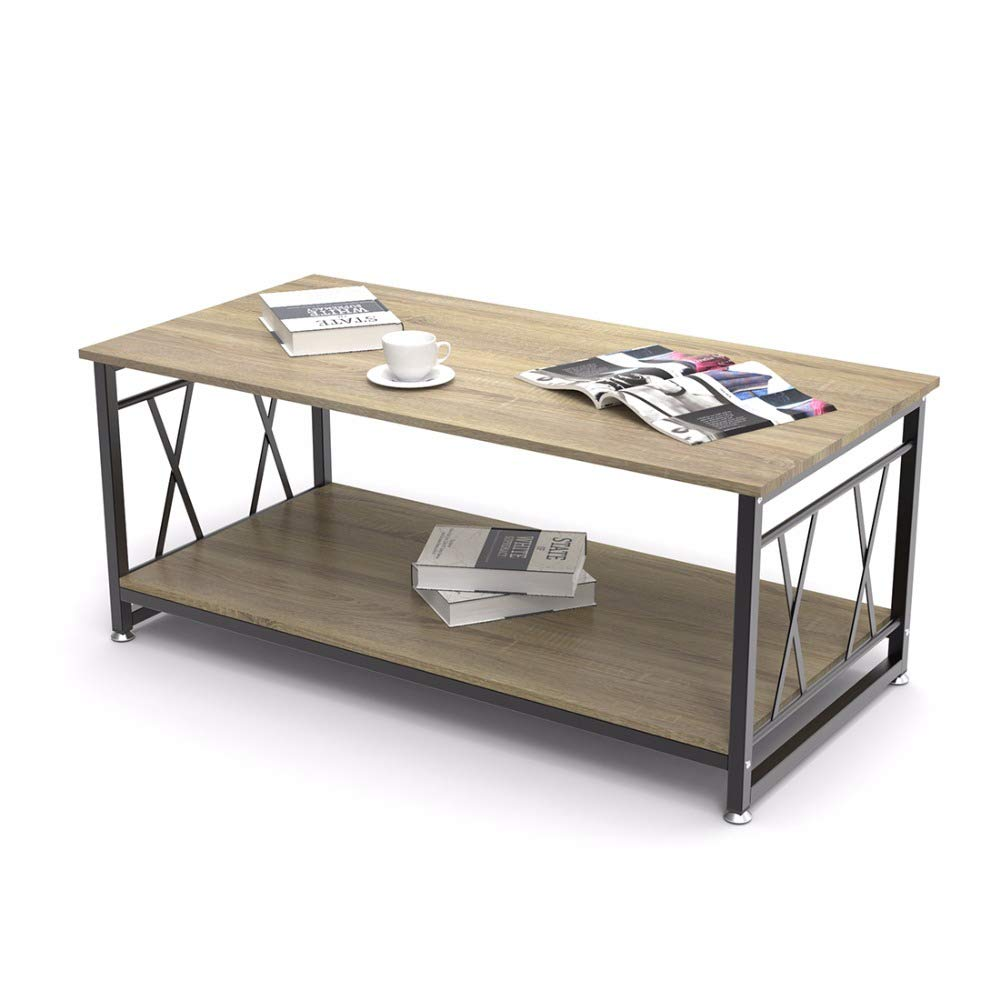 WEBER INDUSTRIES Oregon Table Basse 120x60 Ch/êne Blanchi 120 x 60 x 43,5 cm
