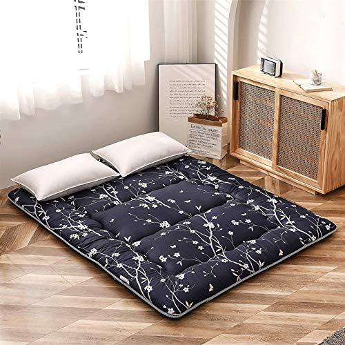 LUGEUK Matelas de Plancher coréen Floral Antique Matelas futon Japonais, Matelas Tatami Pliable épais, Peut Rouler Monter Le Matelas de Camping, Le Matelas et Le Matelas de canapé,