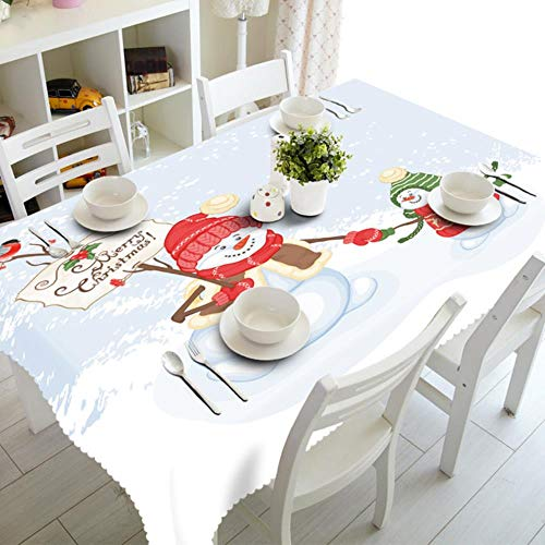 CBVG Home Rectangular Party Cubiertas de Mesa Adornos navidenos Manteles navidenos Cocina Decoraciones para mesas de Comedor, 12,180 cm de diametro