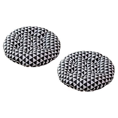 Yxxc Garden Patio 2-teiliges rundes Stuhlpolster, Korbsitzkissen Patio Soft Cushion Kreatives Muster Balkonkissen Pad Soft Breathable-b 40x40x8cm