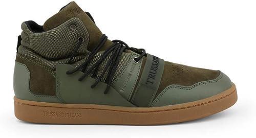 Trussardi chaussures Basse paniers hommes vert vert vert (77A00099) 8ba