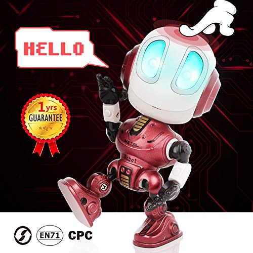 Peradix Mini Robot de Juguete,Robot Juguete Educativo con función de repetición de...